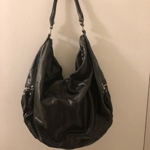 7 for all Mankind Black Leather Hobo